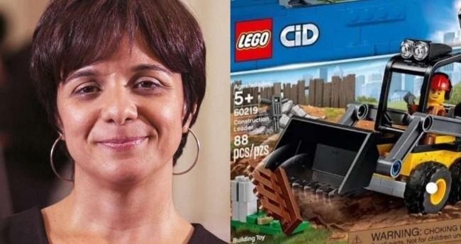 Fotomontagem: Vera Magalhães e brinquedo Lego de Trator