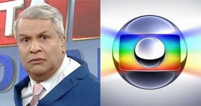 Fotomontagem: Sikêra Júnior e logo da rede Globo