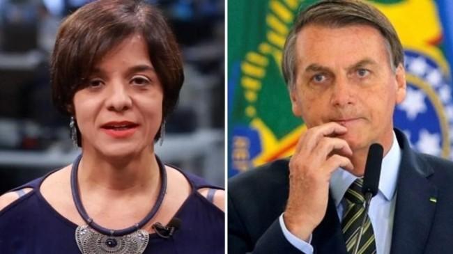 Foto montagem: Vera Magalhães e Jair Bolsonaro