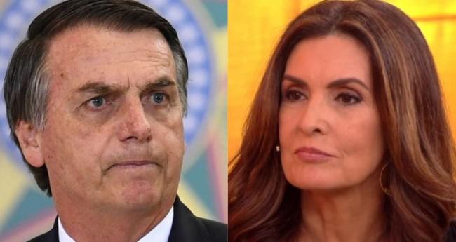 Fotomontagem: Jair Bolsonaro e Fátima Bernardes