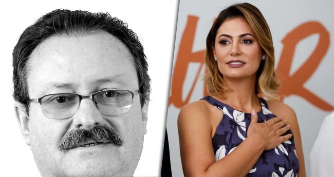 Foto montagem: Germano Oliveira e Michelle Bolsonaro