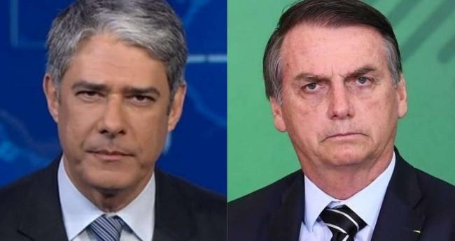 Foto montagem: William Bonner e Jair Bolsonaro