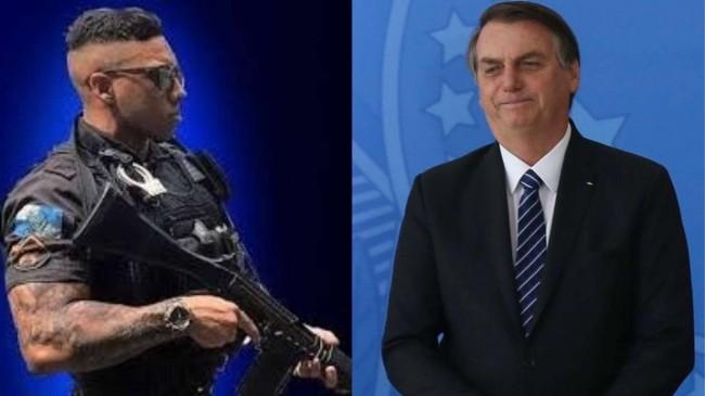 Fotomontagem: Gabriel Monteiro e Jair Bolsonaro