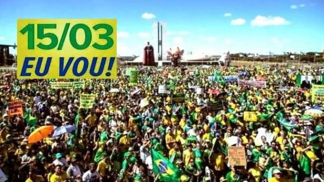 Um gigantesca manifestação popular deve acontecer no dia 15 de março