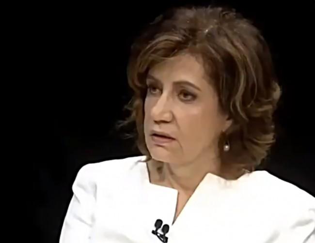 Expressão facial de Miriam Leitão