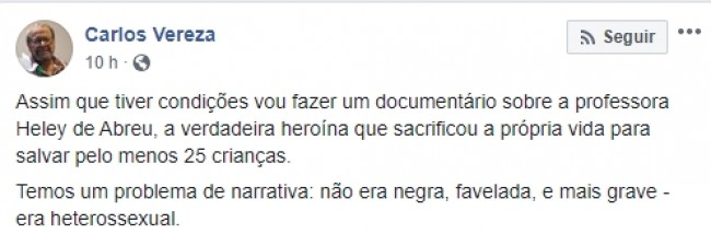 Publicação de Carlos Vereza