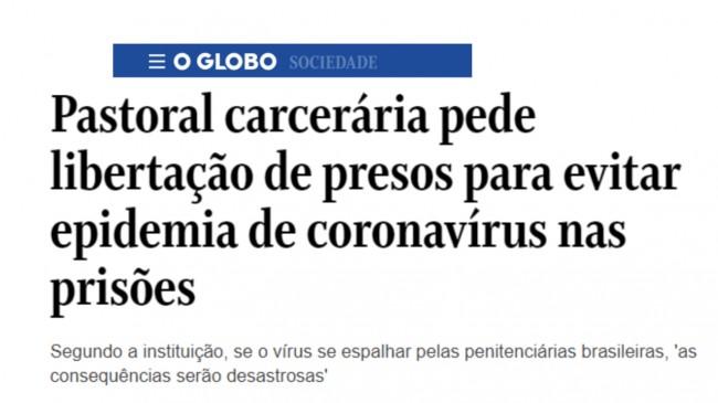 Manchete de O Globo