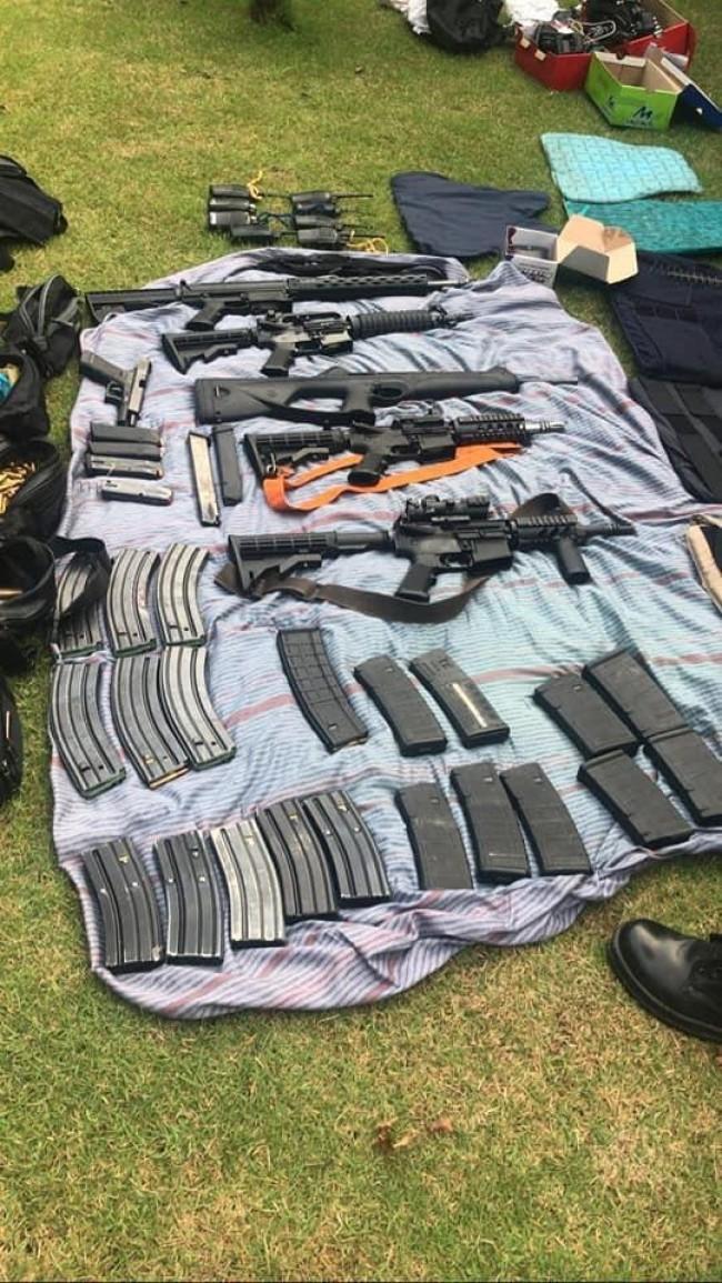 Armamento apreendido pelo operação em SC