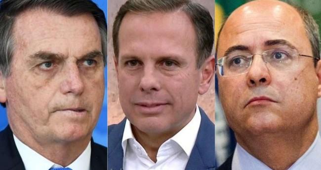 Fotomontagem: Jair Bolsonaro, João Doria e Wilson Witzel