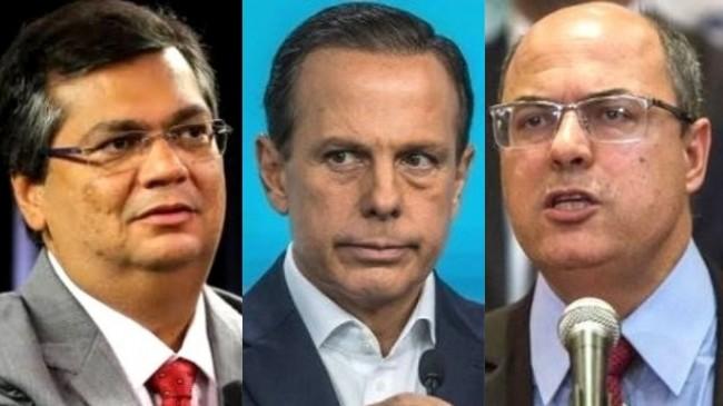 Fotomontagem: Flávio Dino, João Dória e Wilson Witzel