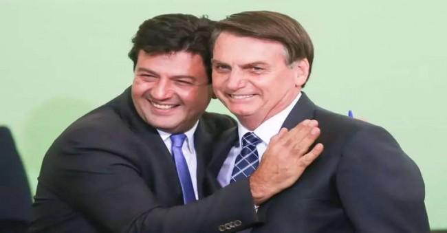 Luiz Henrique Mandetta e Jair Bolsonaro