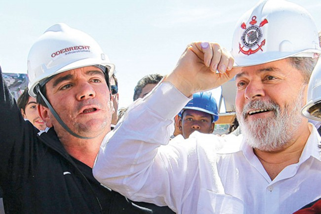 Lula e André Sanches, na Arena do Corinthians