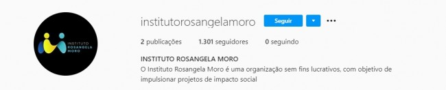 Instagram do Instituto Rosângela Moro