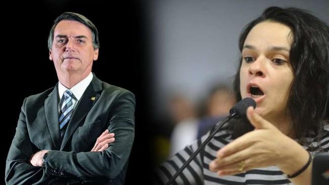Fotomontagem: Jair Bolsonaro e Janaína Paschoal