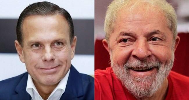 Fotomontagem: João Doria e Lula