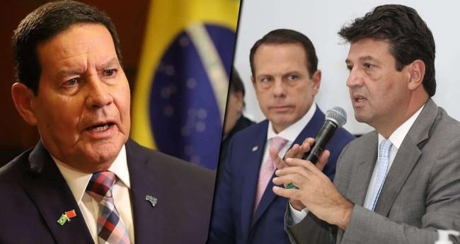 Fotomontagem: General Mourão e Luiz Henrique Mandetta