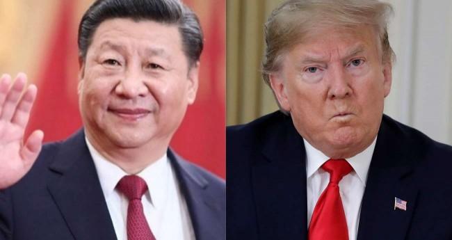 Fotomontagem: Xi Jinping e Donald Trump