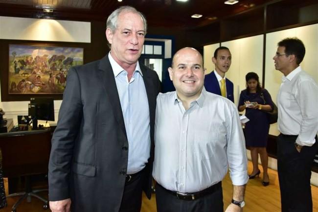 Ciro Gomes e Roberto Cláudio, prefeito de Fortaleza
