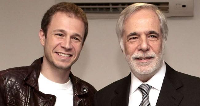 Tiago Leifert e seu pai Gilberto Leifert