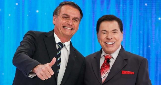 Jair Bolsonaro e Sílvio Santos