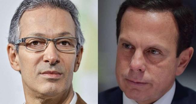 Fotomontagem: Romeu Zema e João Dória