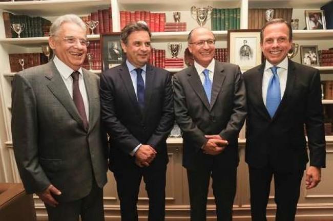 FHC, Aécio, Alckmin e João Dória