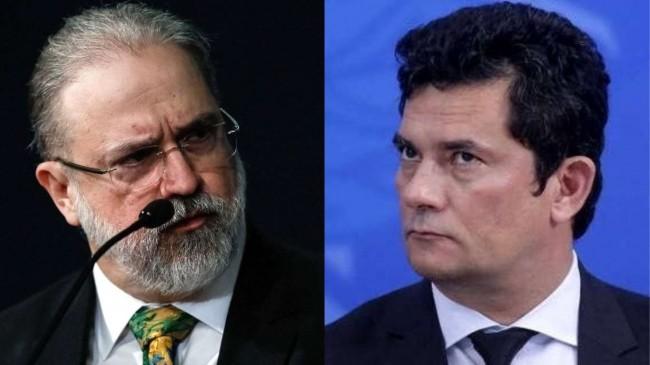 Fotomontagem: Augusto Aras e Sérgio Moro