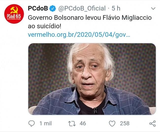 Publicação de PCdoB no Twitter
