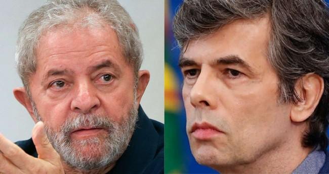 Fotomontagem: Lula e Nelson Teich