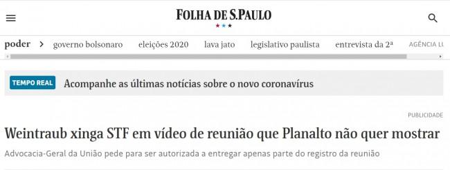 Matéria da Folha de S. Paulo