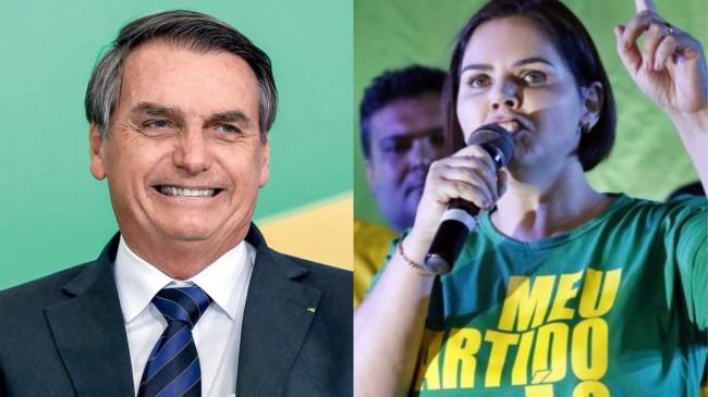 Fotomontagem: Jair Bolsonaro e a Tenente-Coronel Rúbia Fernanda