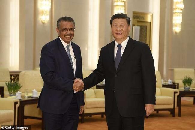 Tedros Adhanom e Xi Jinping