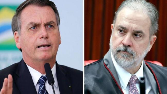 Fotomontagem: Jair Bolsonaro e Augusto Aras