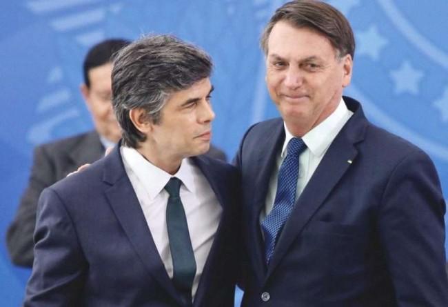 Nelson Teich e Jair Bolsonaro