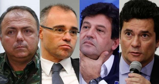 Fotomontagem: Pazuello, Mendonça, Mandetta e Moro