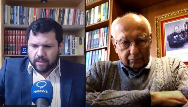 Jornalista Oswaldo Eustáquio e o jurista Ives Gandra Martins