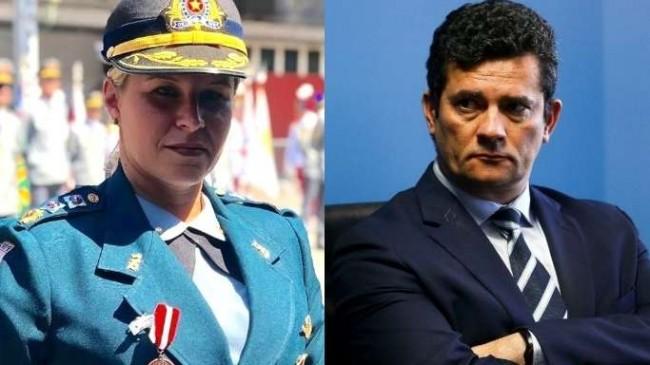 Fotomontagem: Major Fabiana e Sérgio Moro