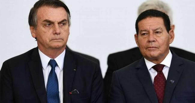 Jair Bolsonaro e general Hamilton Mourão