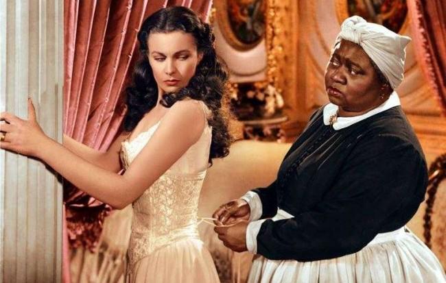 Hattie McDaniel com Vivien Leigh, que deu vida a Scarlett O'Hara