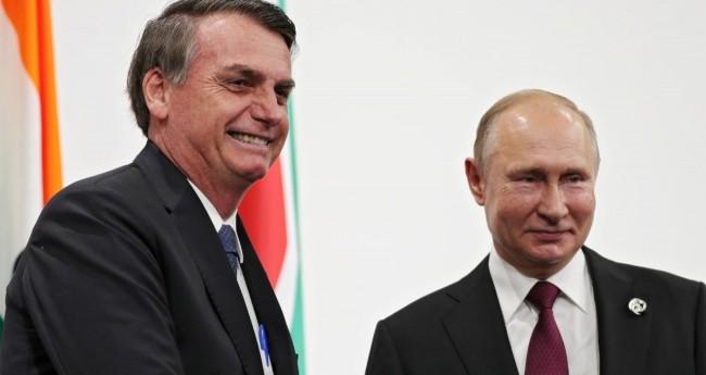 Jair Bolsonaro e Vladimir Putin