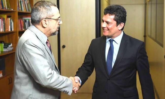 Abraham Weintraub e Sérgio Moro