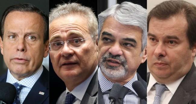 João Doria, Renan Calheiros, Humberto Costa e Rodrigo Maia