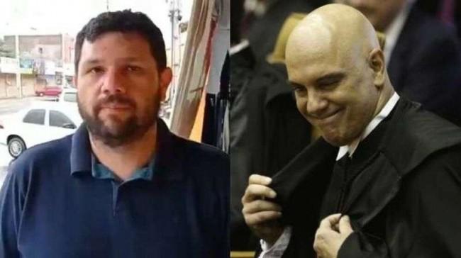 Fotomontagem: Jornalista Oswaldo Eustáquio e Alexandre de Moraes