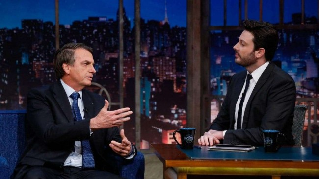 Jair Bolsonaro e Danilo Gentili