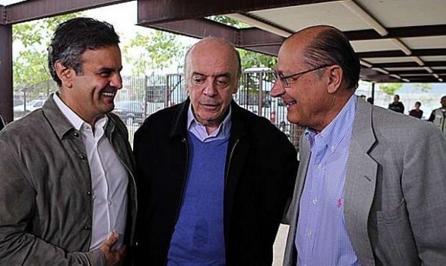 Aécio, Serra e Geraldo Alckmin