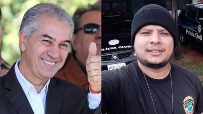 Fotomontagem: O governador e o policial demitido