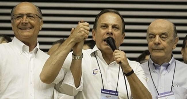 Geraldo Alckmin, João Doria e José Serra