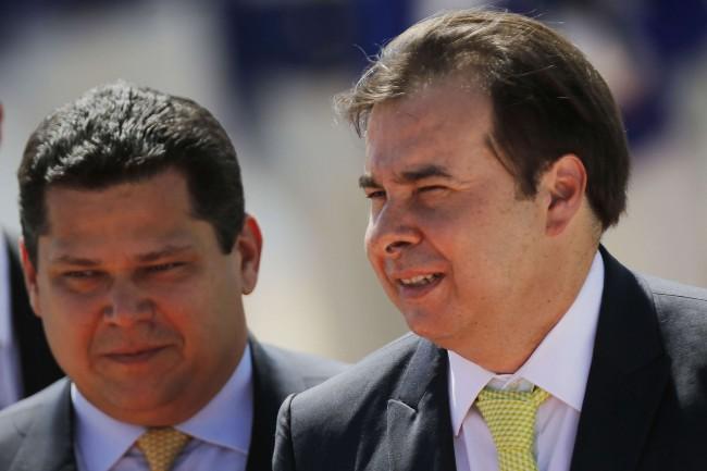Davi Alcolumbre e Rodrigo Maia