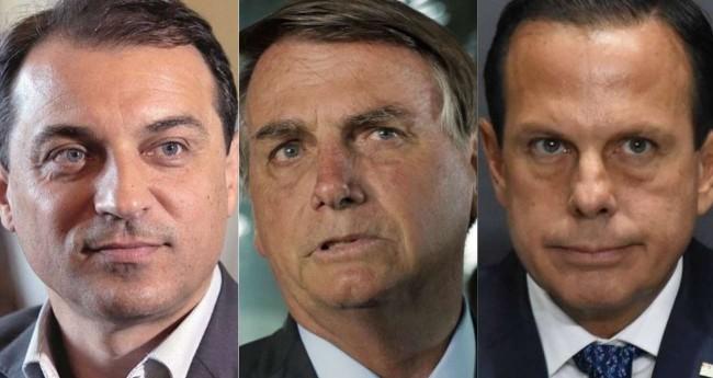 Fotomontagem: Carlos Moisés, Jair Bolsonaro e João Doria