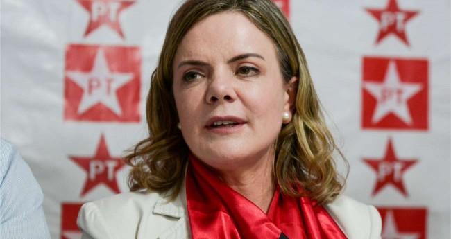 Presidente do PT, Gleisi Hoffmann